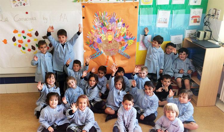 Infantil celebra el día de Thanksgiving