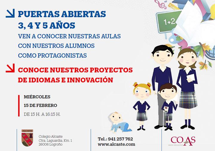 PUERTAS ABIERTAS PARA 3, 4 Y 5 AÑOS EN ALCASTE!