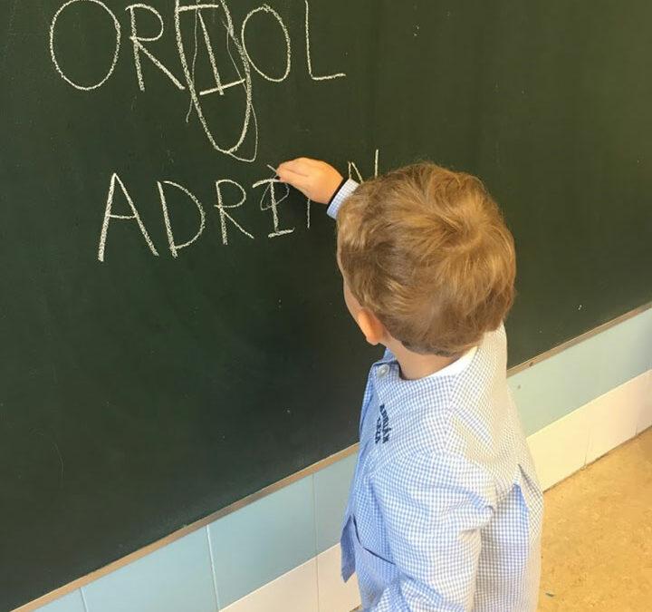 1º de Educación Infantil, línea B, aprende las letras.