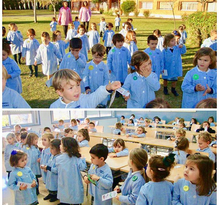 1º de Educación Infantil conoce todo el colegio.