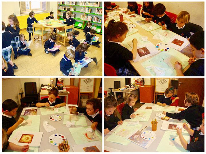 Salida cultural de 2º de infantil al Museo de La Rioja y a la Biblioteca Municipal.