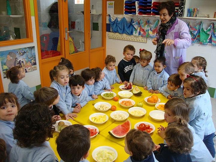 Entreviñas taller en inglés y en francés sobre las frutas