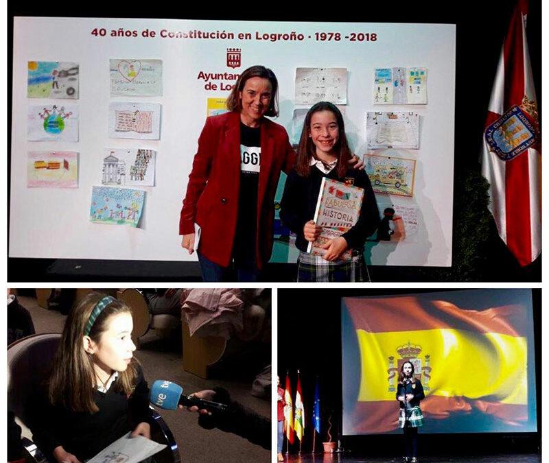 Berta Alujas, mejor dibujo de Alcaste sobre la Constitución Española