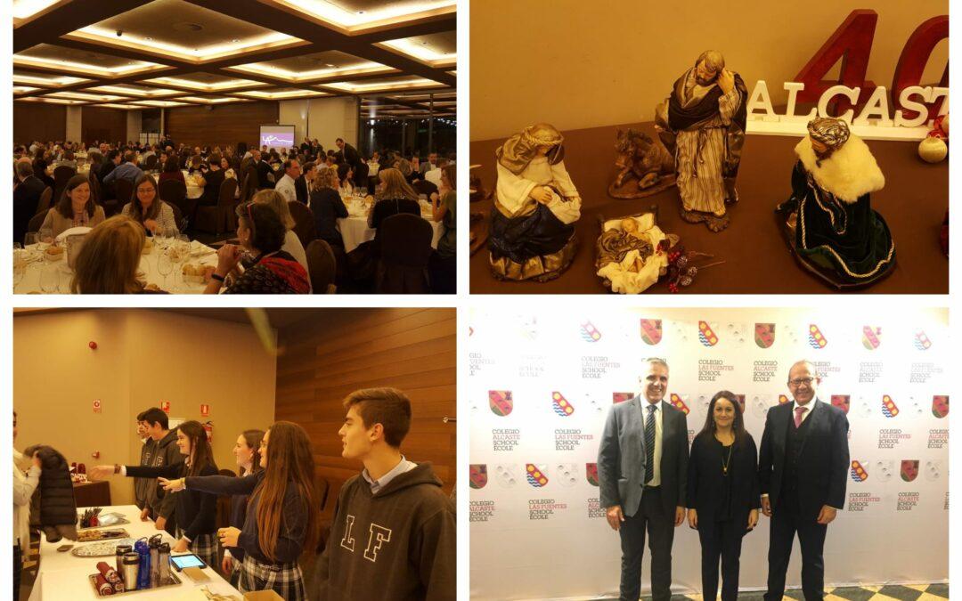 Cena celebración del 40 aniversario de Alcaste con padres y profesores de Alcaste-Las Fuentes