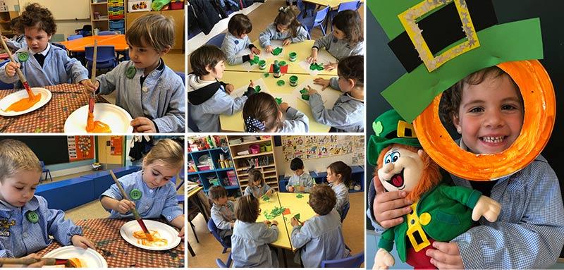 Los alumnos de 1º de Educación Infantil celebran el día de St. Patrick