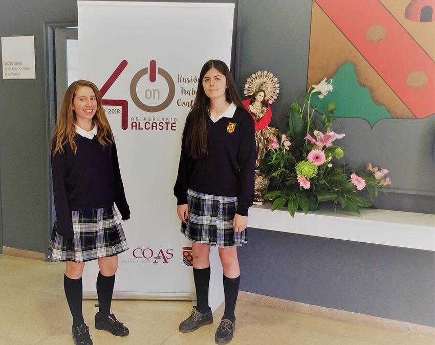 Dos alumnas de Alcaste, premiadas en la modalidad de microrrelato de un concurso literario