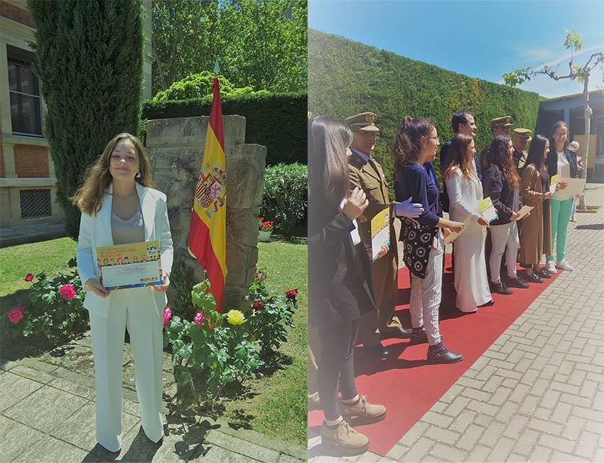 """Adriana Rodríguez Vallejo, finalista en el concurso """"Carta a un militar español"""""""