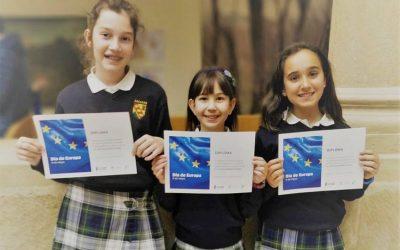 Premiadas tres alumnas por su visión de Europa