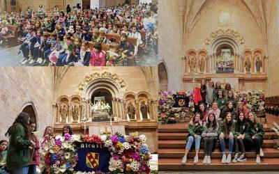 Romería de todo el colegio a Valvanera por el 40 aniversario de Alcaste