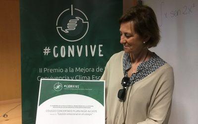 Susana García Mangas gana el primer premio cONvive en la categoría Educación en los Sentimientos e Inteligencia Emocional