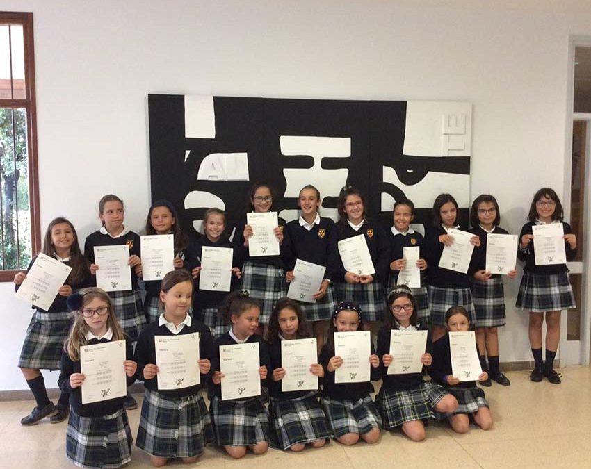 Entrega Certificados de Cambridge a las alumnas de 3º y 5º de Primaria