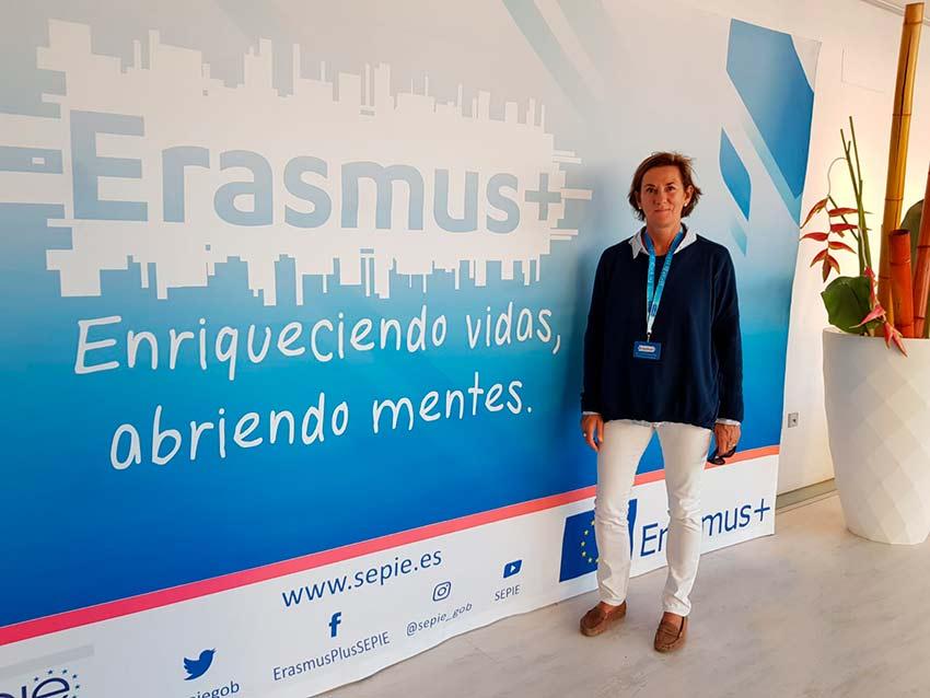 Susana García Mangas, en un Encuentro Erasmus para realizar proyectos europeos
