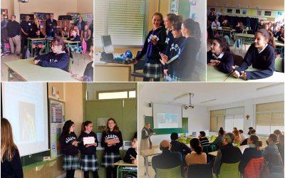 Alumnas de 1º de ESO comparten con sus padres su día a día en el colegio