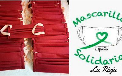 Alcaste-Las Fuentes dona tela para realizar mascarillas