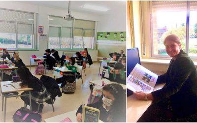 Las alumnas de 1º y 2º de Primaria cuentan con un plan lector dentro de su horario escolar