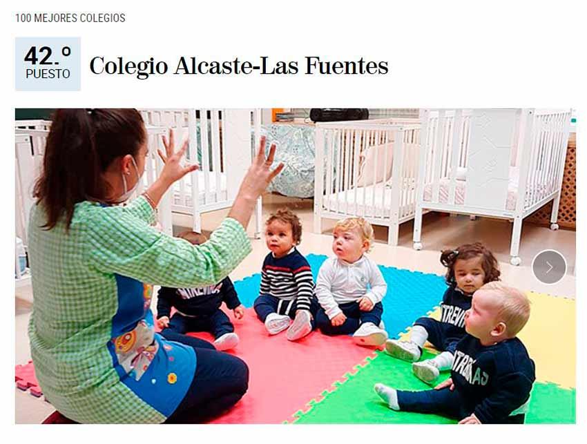 Alcaste-Las Fuentes, de nuevo entre los 100 mejores colegios de España