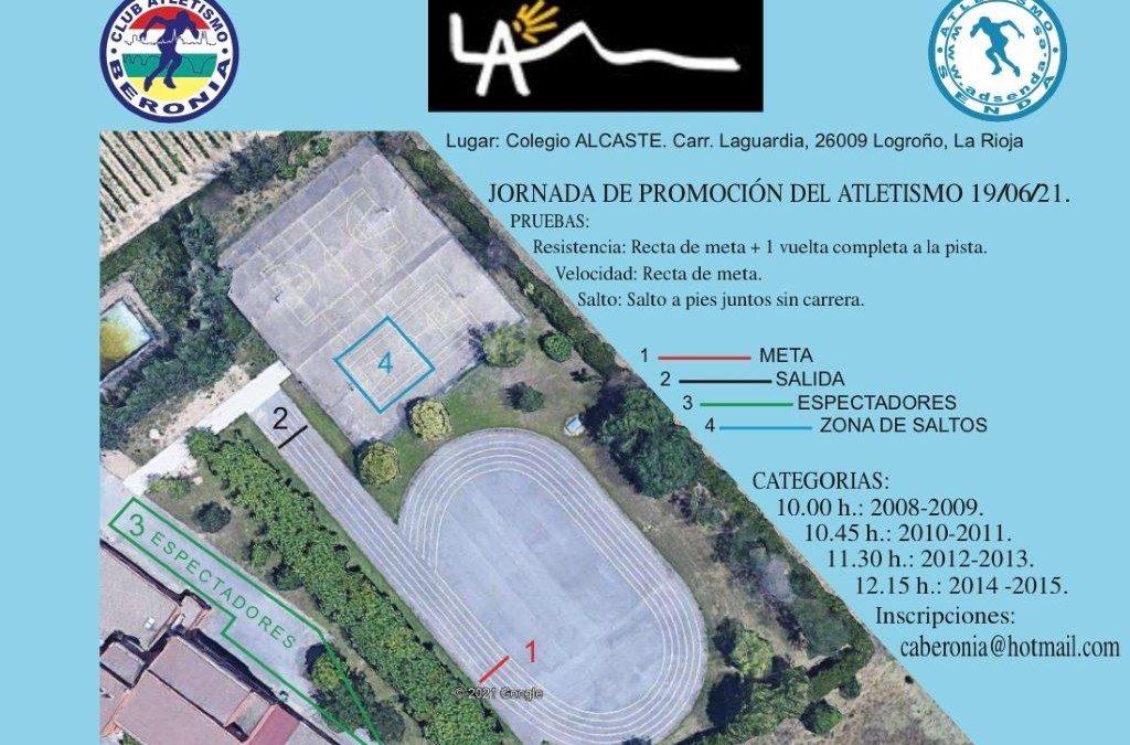 Jornada de promoción de atletismo en las instalaciones deportivas de Alcaste